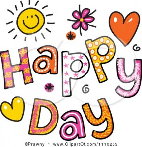 1110253-Clipart-Colorful-Sketched-Happy-Day-Text-Royalty-Free-Vector-Illustration