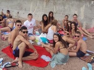 na plazi u Petrovcu